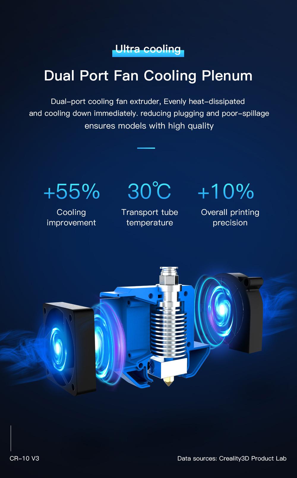 Creality3D CR-10 V3 3D-Drucker Bausatz - 300x300x400mm - Duale Bauteilkühlung