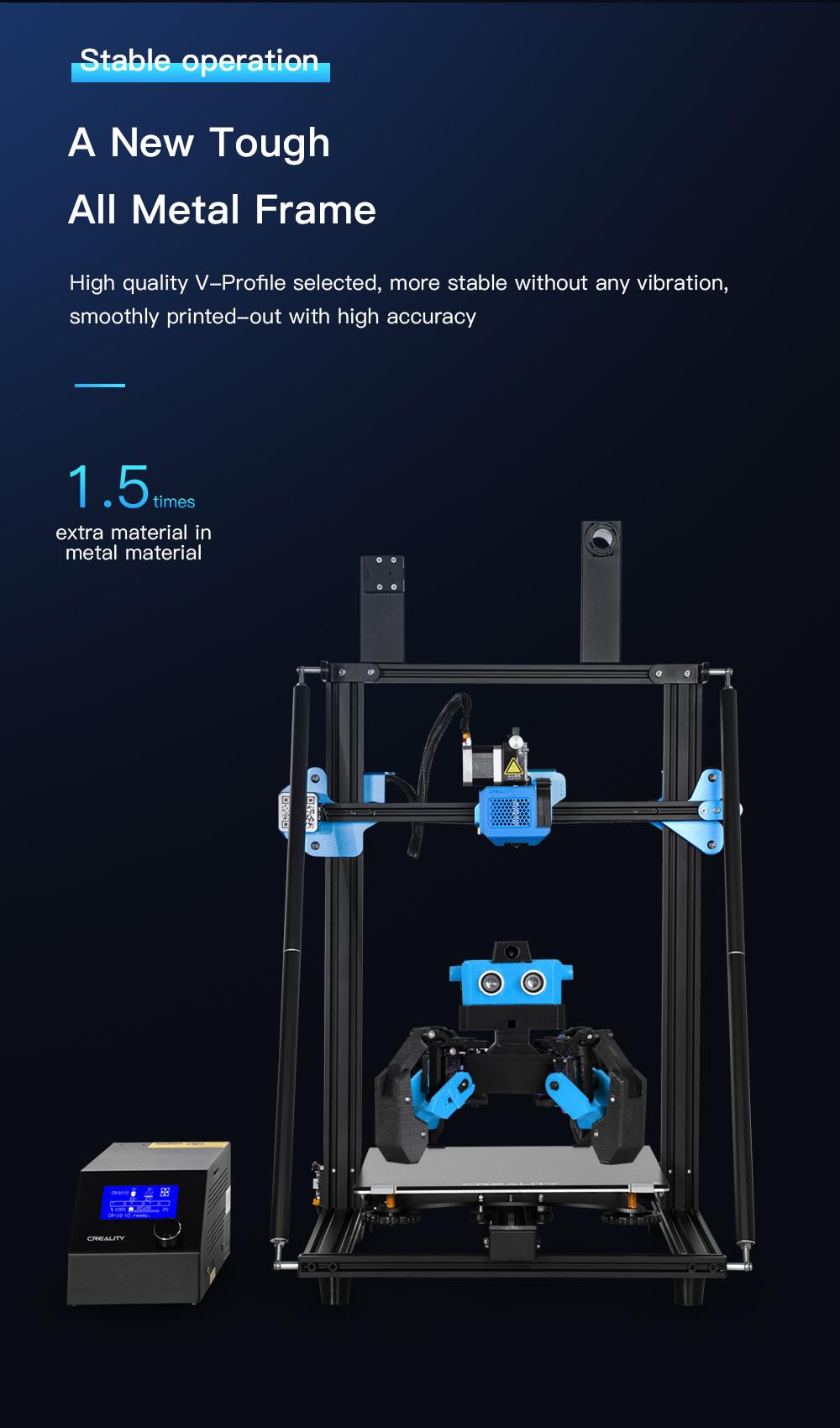 Creality3D CR-10 V3 3D-Drucker Bausatz - 300x300x400mm - Ganzmetallrahmen