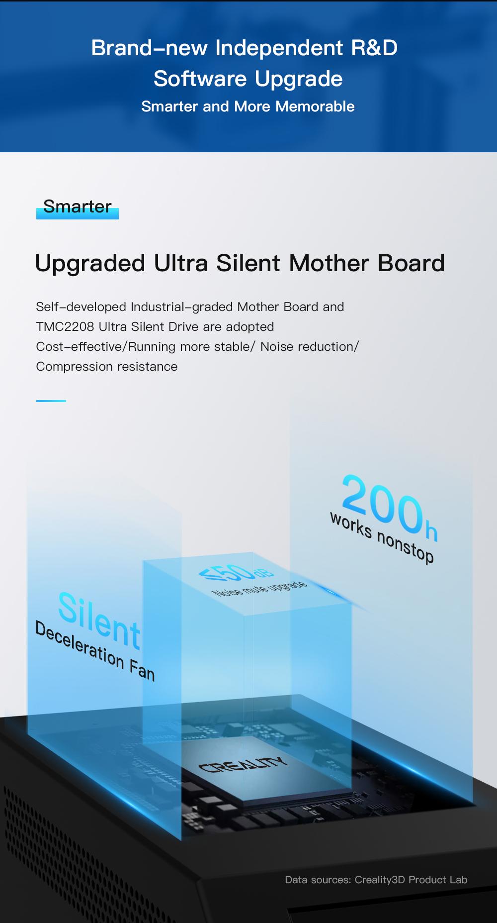 Creality3D CR-10 V3 3D-Drucker Bausatz - 300x300x400mm - Verbesserte ultra leise Hauptplatine mit TMC 2208 Schrittmotortreibern