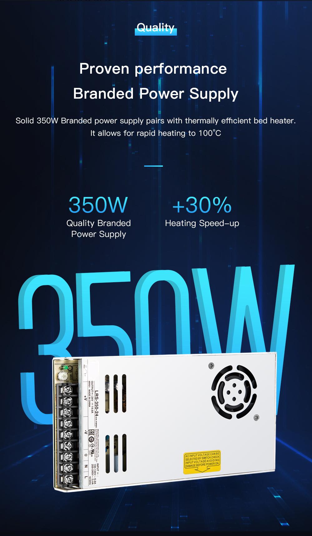 Creality3D CR-10 V3 3D-Drucker Bausatz - 300x300x400mm - Stabiles 350W Netzteil