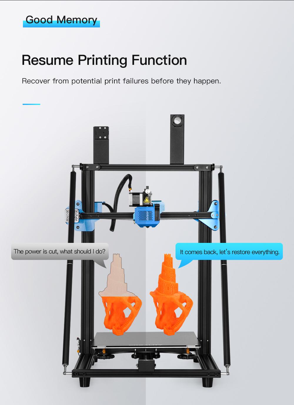 Creality3D CR-10 V3 3D-Drucker Bausatz - 300x300x400mm - Resume Printing Funktion