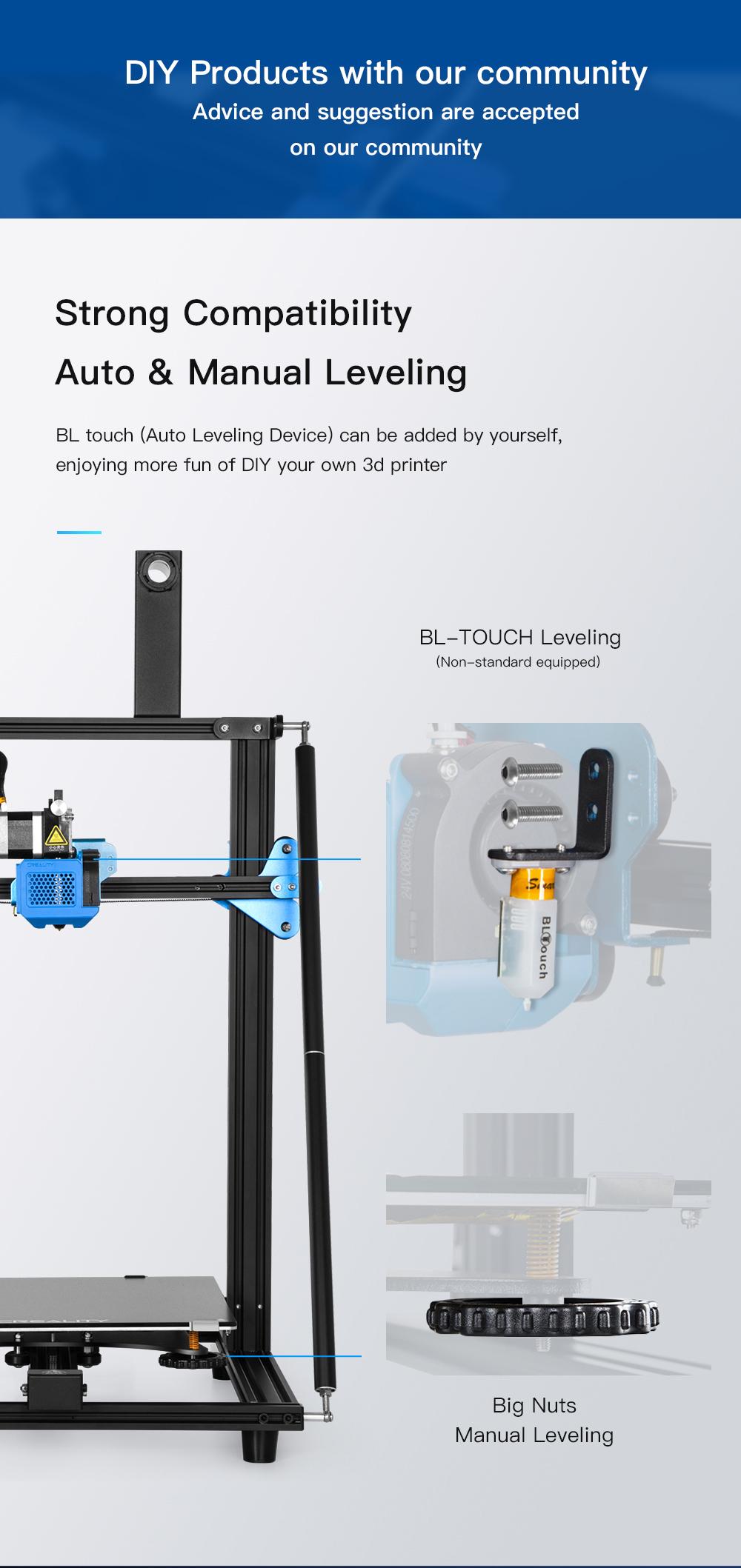 Creality3D CR-10 V3 3D-Drucker Bausatz - 300x300x400mm - Optional BL-Touch Sensor zum Nachrüsten