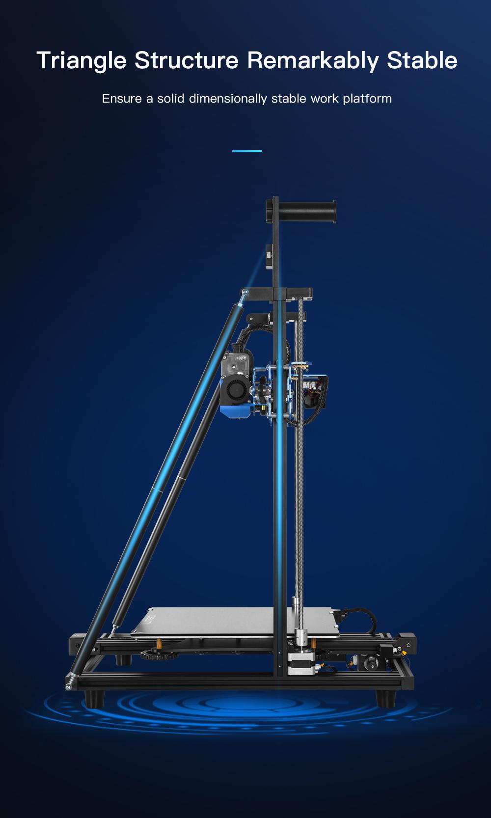 Creality3D CR-10 V3 3D-Drucker Bausatz - 300x300x400mm - Stabile Dreiecksstruktur