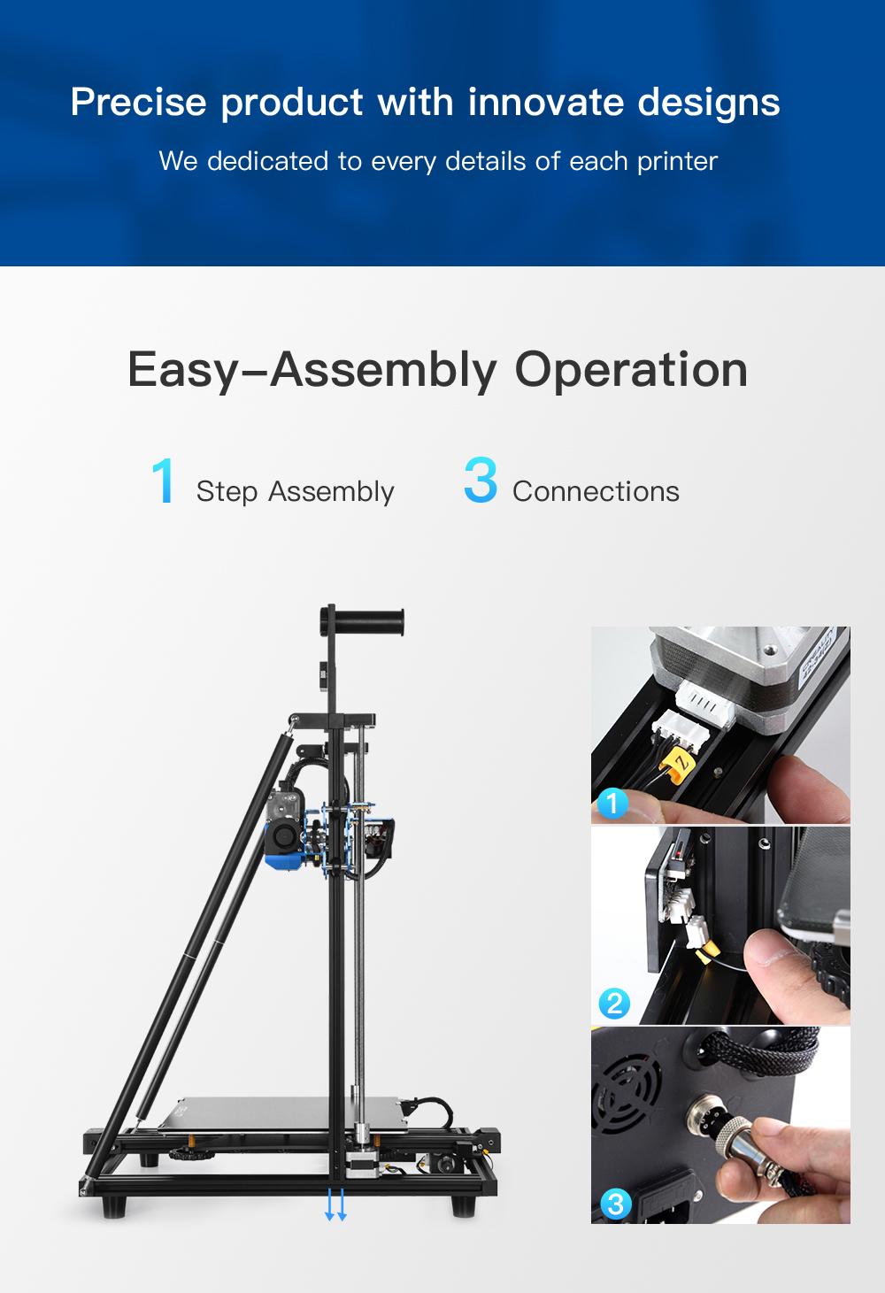 Creality3D CR-10 V3 3D-Drucker Bausatz - 300x300x400mm - Leichter Aufbau