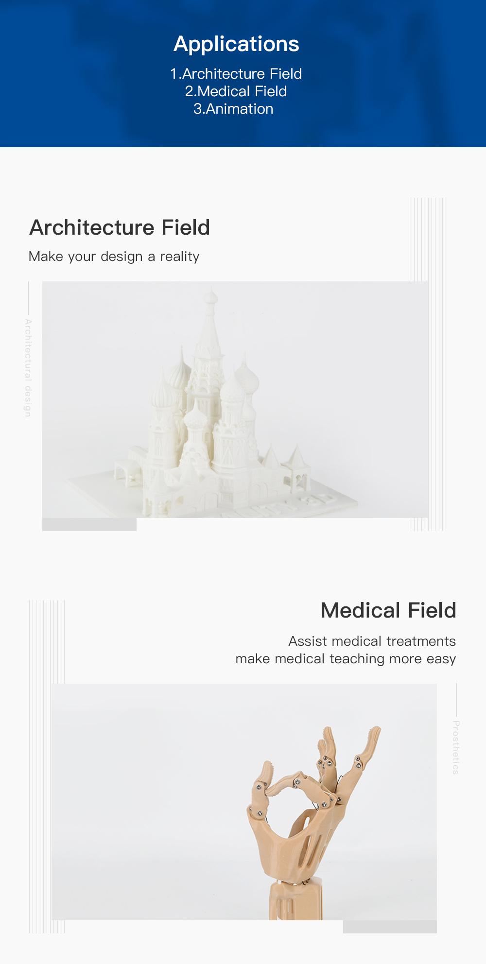 Creality3D CR-10 V3 3D-Drucker Bausatz - 300x300x400mm - Anwendungsbeispiele in Architektur und Medizin