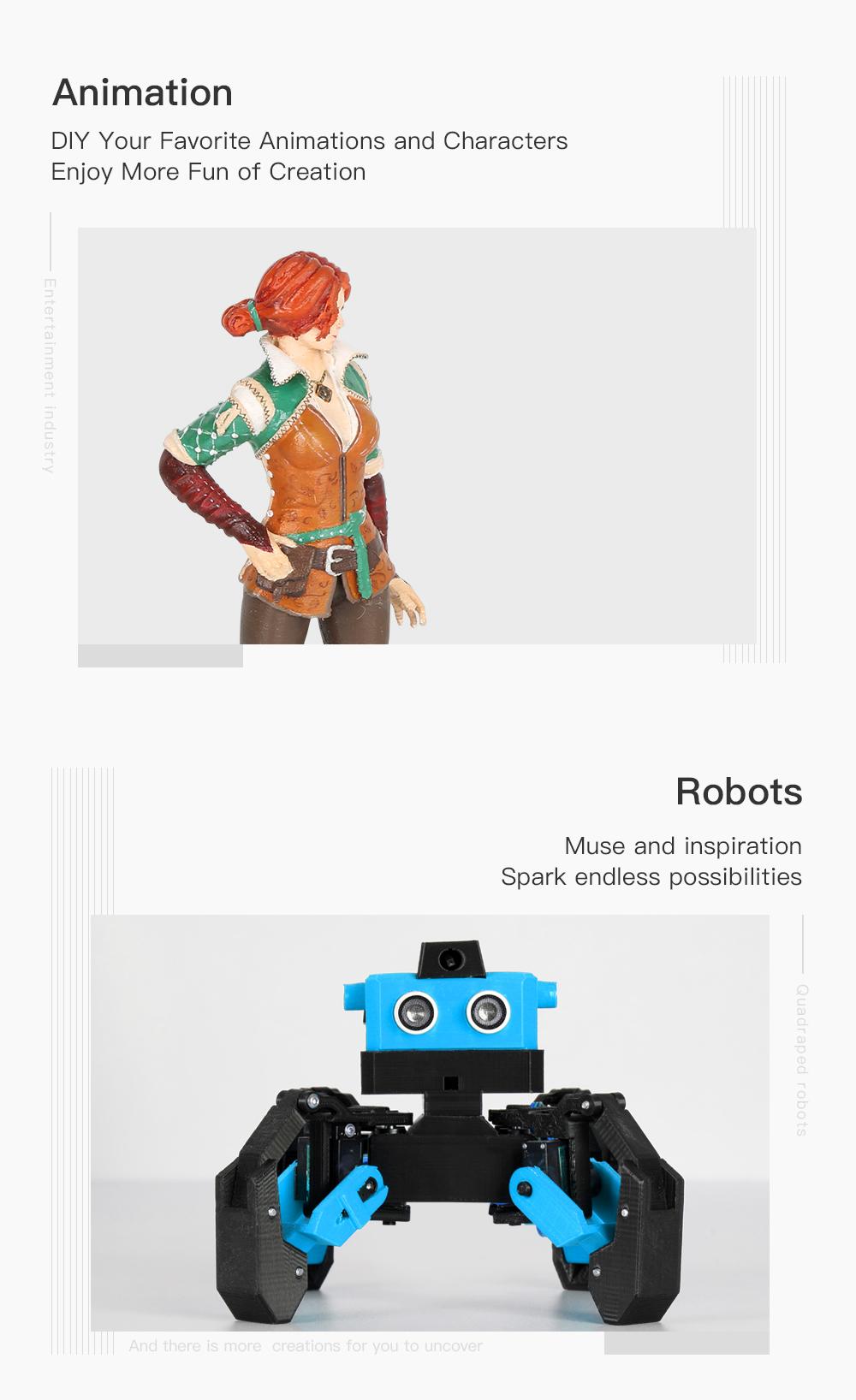 Creality3D CR-10 V3 3D-Drucker Bausatz - 300x300x400mm - Anwendungsbeispiele in Animation und Robotik