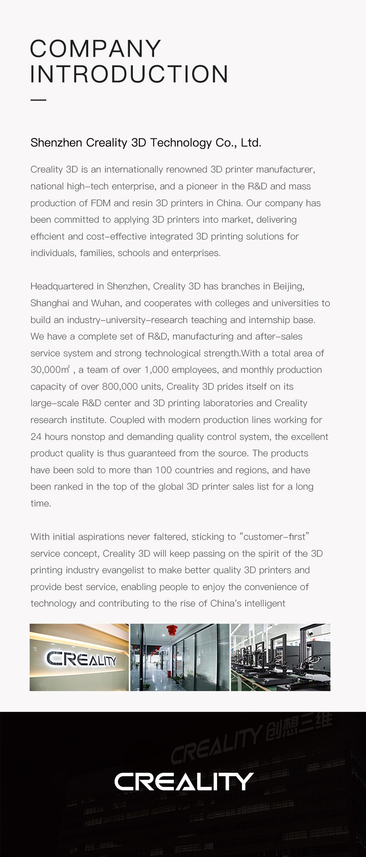 Creality3D CR-10 V3 3D-Drucker Bausatz - 300x300x400mm - Firmenvorstellung