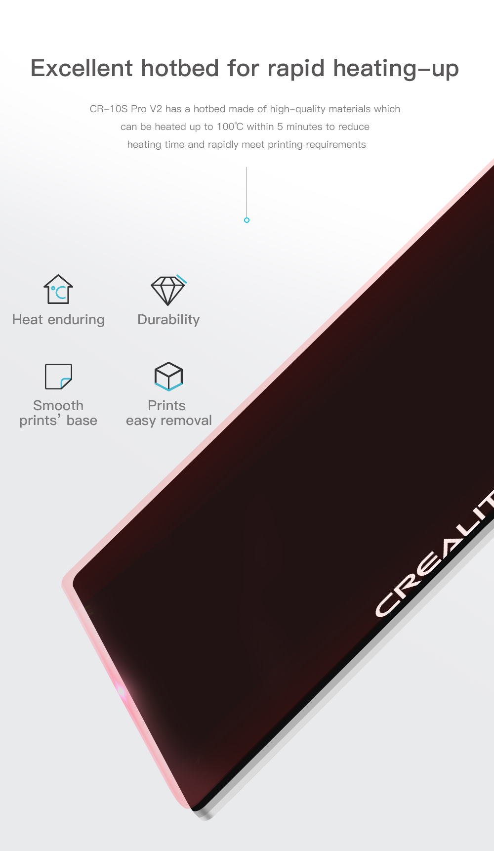 Creality3D CR-10S Pro V2 3D-Drucker Bausatz - 300x300x400mm - Schnell aufheizendes Heizbett