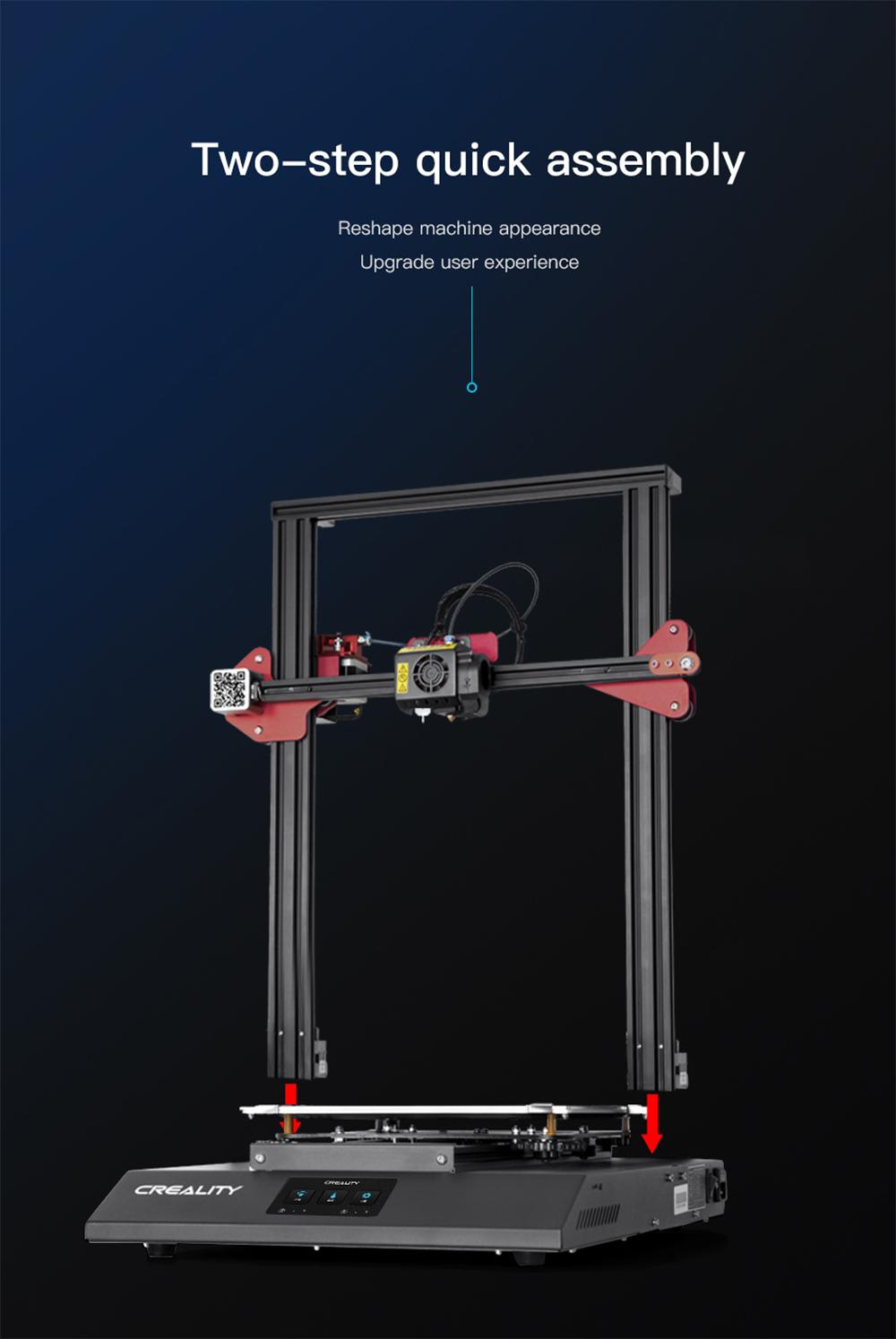 Creality3D CR-10S Pro V2 3D-Drucker Bausatz - 300x300x400mm - Schneller Aufbau in 2 Schritten