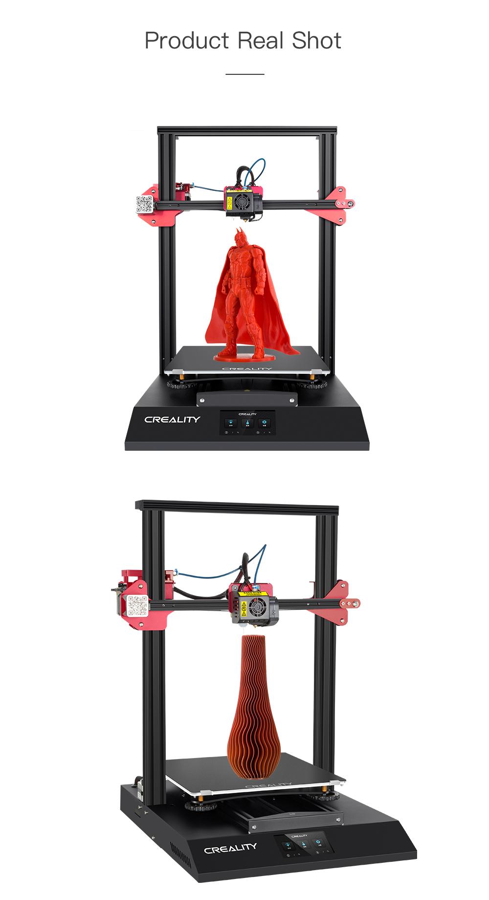 Creality3D CR-10S Pro V2 3D-Drucker Bausatz - 300x300x400mm - Verschiedene 3D-Drucker Ansichten mit Druckmodellen