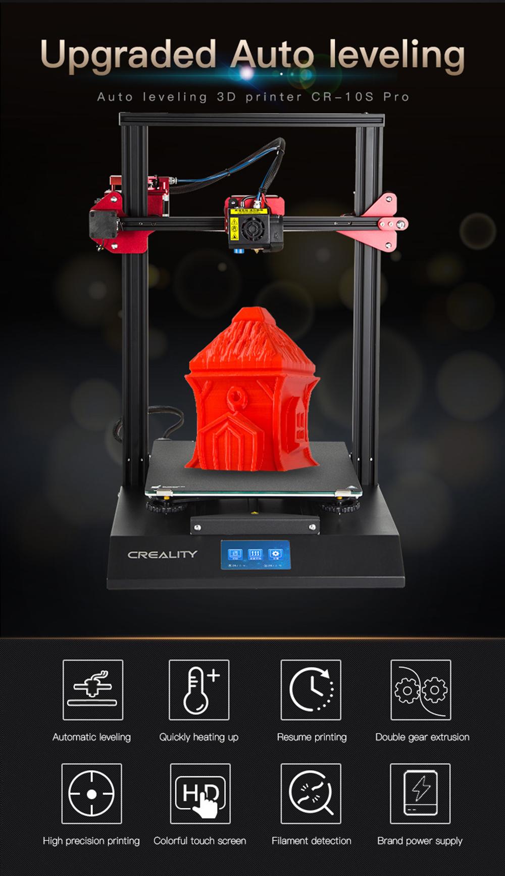 Creality3D CR-10S Pro 3D-Drucker Bausatz - 300x300x400mm - Produktvorstellung und Funktionsübersicht