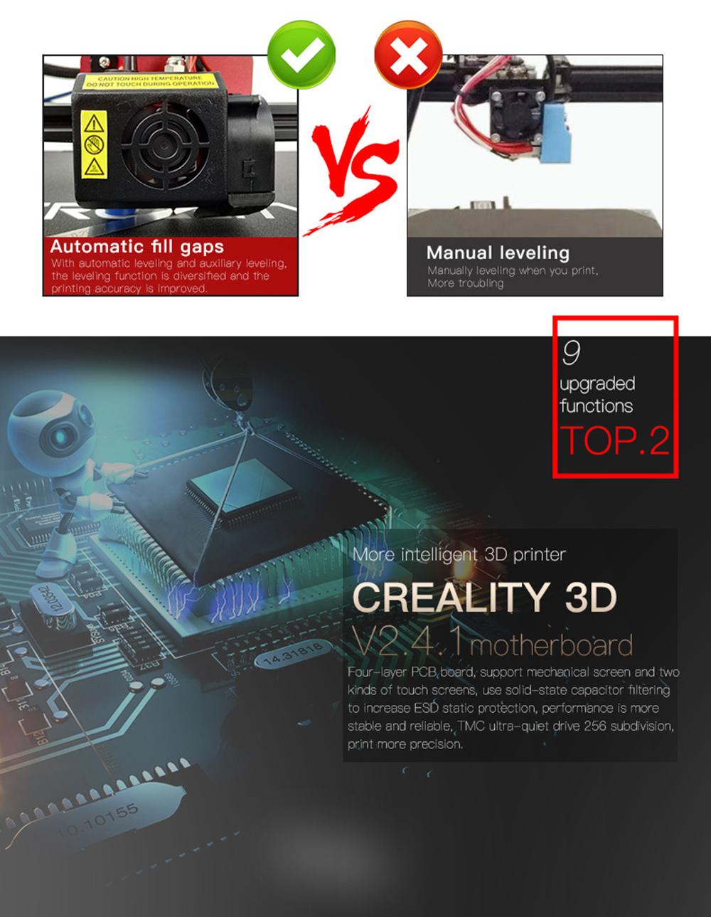 Creality3D CR-10S Pro 3D-Drucker Bausatz - 300x300x400mm - V2.4.1 Steuerplatine für noch höhere Präzision