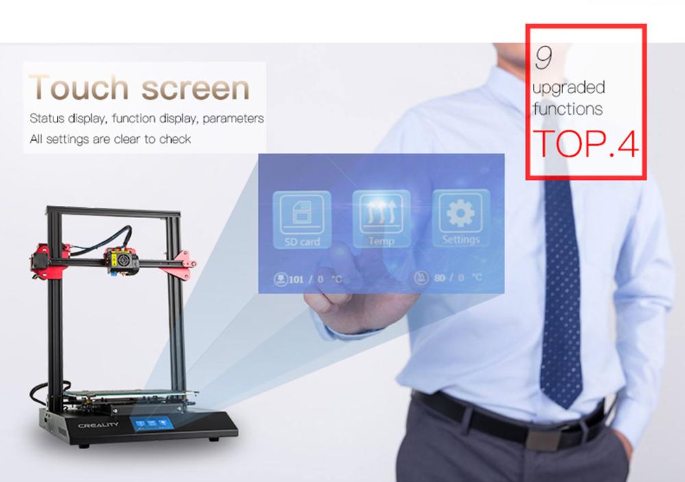 Creality3D CR-10S Pro 3D-Drucker Bausatz - 300x300x400mm - verbesserter Touch-Screen Display
