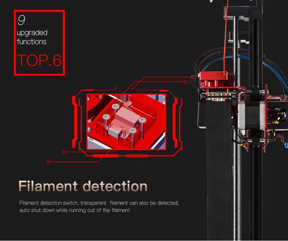 Creality3D CR-10S Pro 3D-Drucker Bausatz - 300x300x400mm - Filament Erkennung