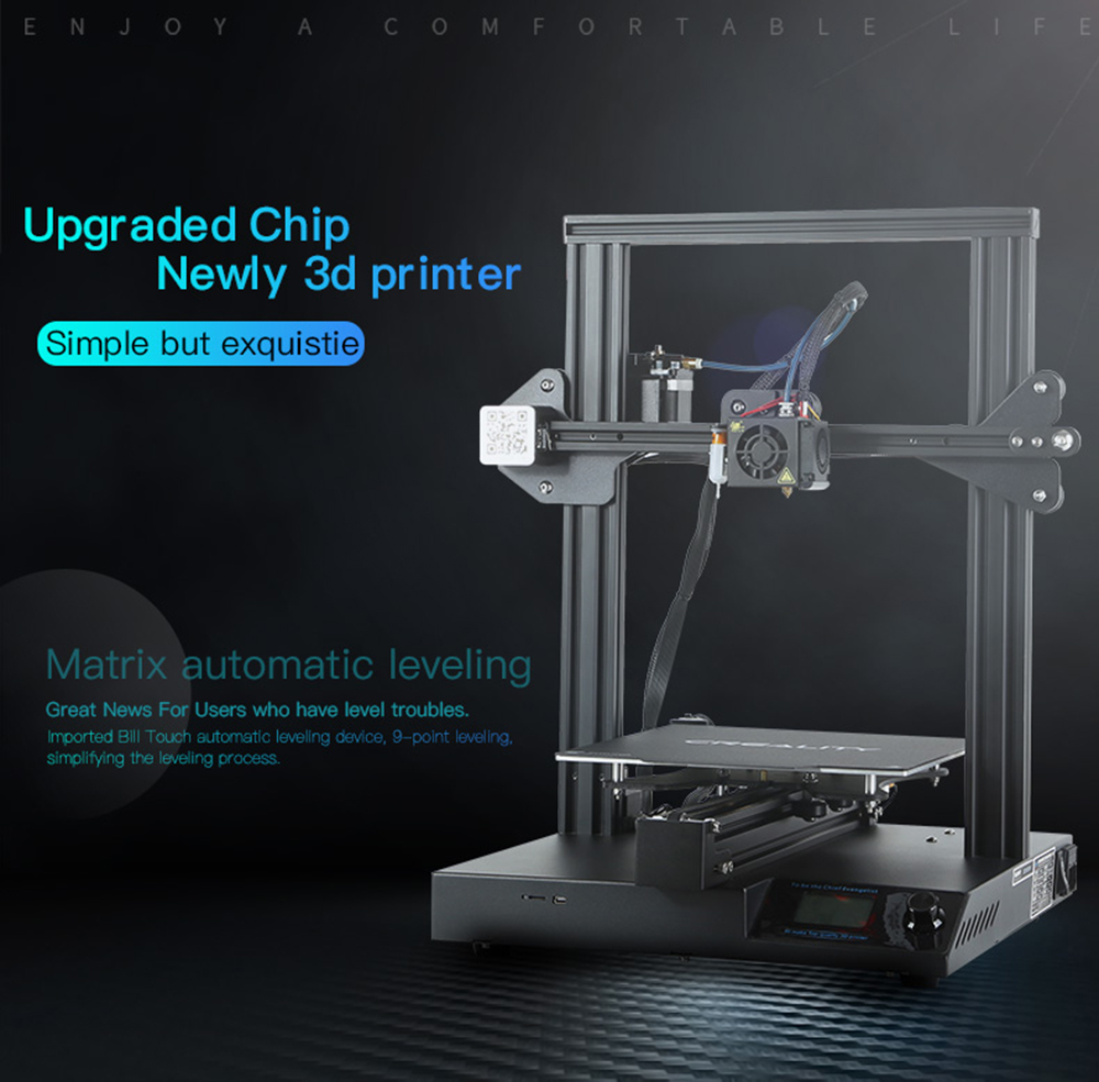 Creality3D CR-20 Pro 3D-Drucker Bausatz - 220x220x250mm - Produktvorstellung mit Auto Levelling Funktion