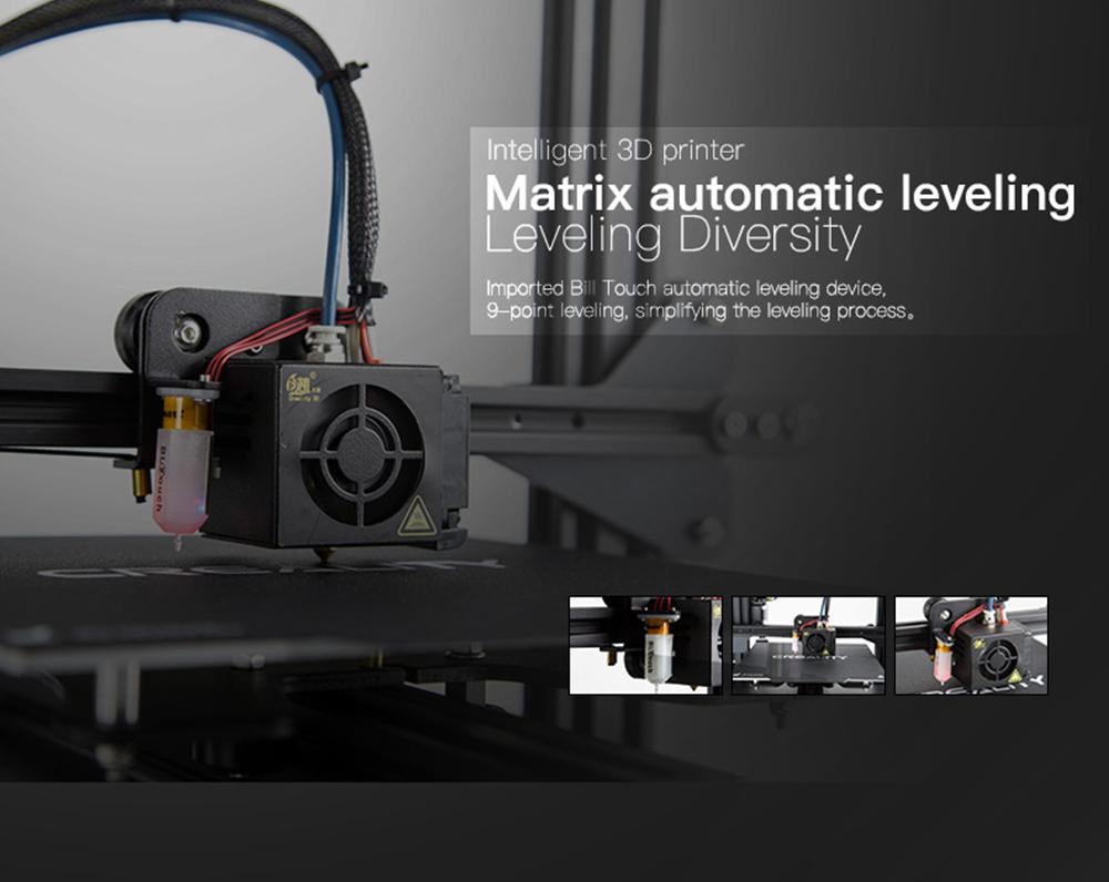 Creality3D CR-20 Pro 3D-Drucker Bausatz - 220x220x250mm - 9 Punkt Auto-Levelling Funktion