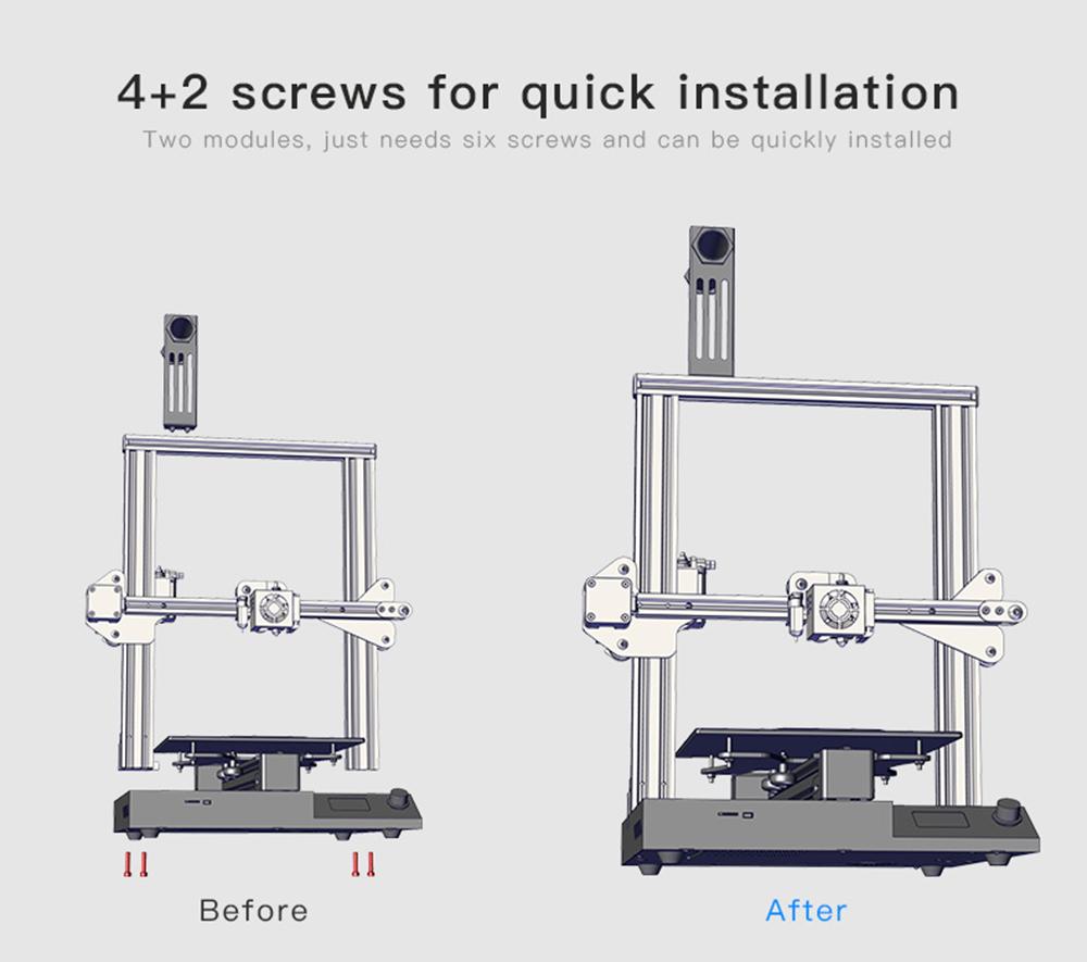 Creality3D CR-20 Pro 3D-Drucker Bausatz - 220x220x250mm - Modulbauweise für schnellen Aufbau