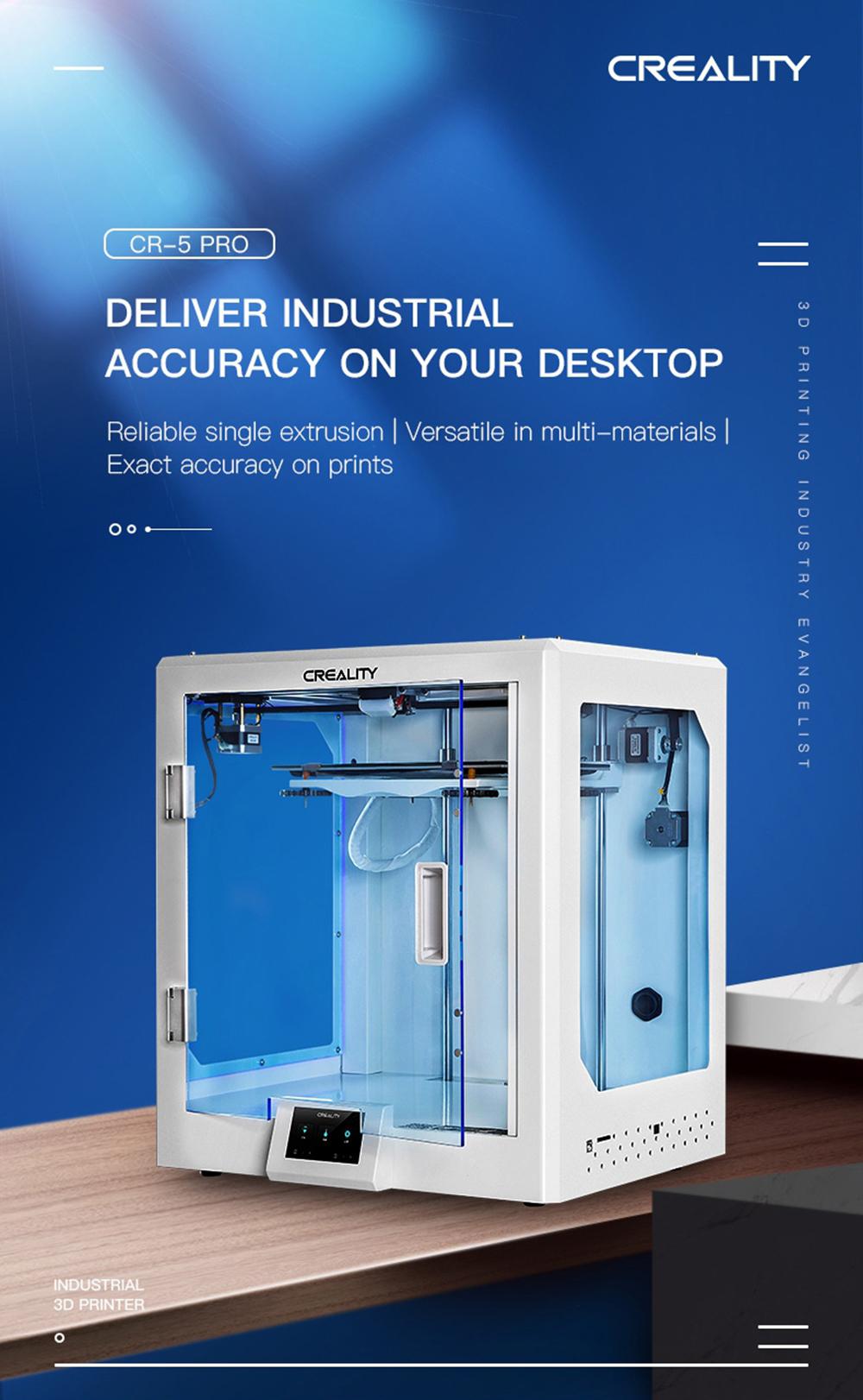 Creality3D CR-5 Pro 3D-Drucker - 300x225x380mm - Produktvorstellung