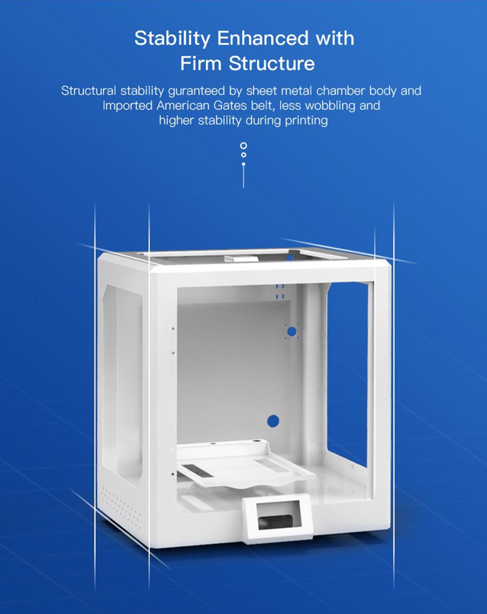 Creality3D CR-5 Pro 3D-Drucker - 300x225x380mm - Höhere Stabilität durch Metallplatten Rahmen