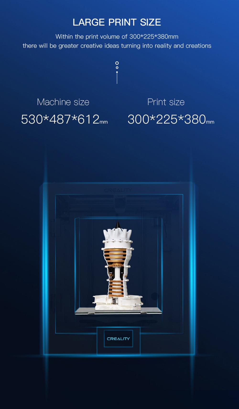 Creality3D CR-5 Pro 3D-Drucker - 300x225x380mm - 3D-Drucker Größe - Bauraum Größe