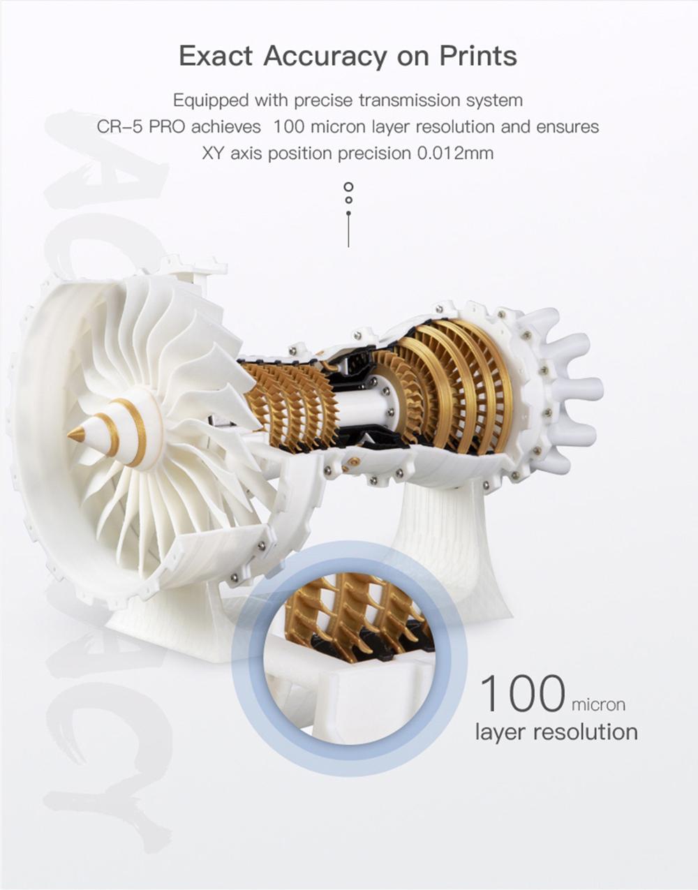 Creality3D CR-5 Pro 3D-Drucker - 300x225x380mm - Sehr hohe Präzision