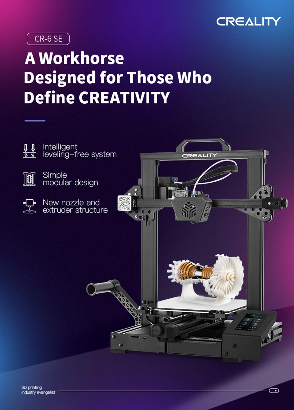 Creality3D CR-6 SE 3D-Drucker Bausatz - 235x235x250mm - Produktvorstellung CR-6 SE