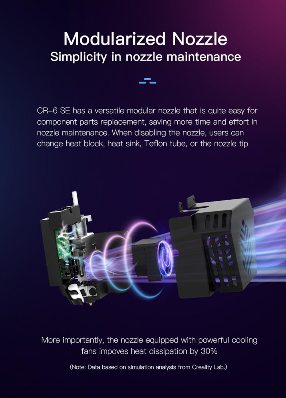 Creality3D CR-6 SE 3D-Drucker Bausatz - 235x235x250mm - Modulares Hotend