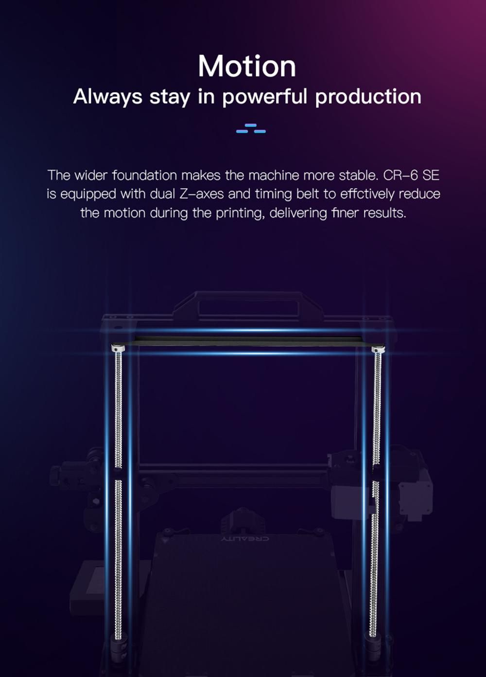 Creality3D CR-6 SE 3D-Drucker Bausatz - 235x235x250mm - Dualer Z-Achsen Antrieb