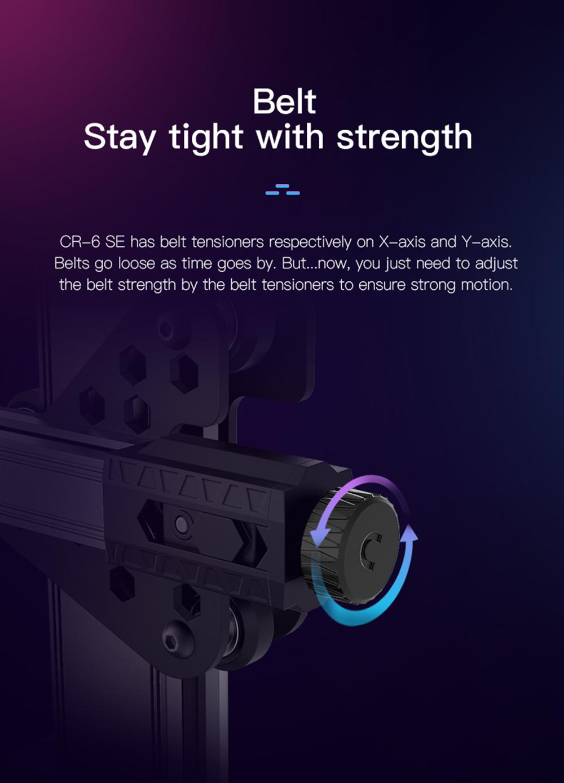 Creality3D CR-6 SE 3D-Drucker Bausatz - 235x235x250mm - Neue Riemenspanner in X und Y