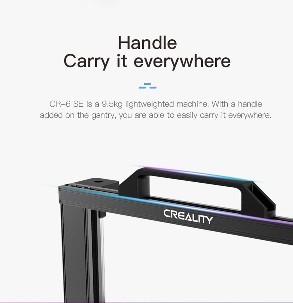 Creality3D CR-6 SE 3D-Drucker Bausatz - 235x235x250mm - Handlicher Tragegriff