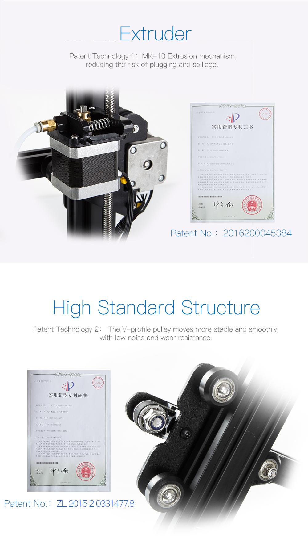 Creality3D Ender 3 Pro 3D-Drucker Bausatz - 220x220x250mm - MK-10 Extruder - V-Slot Profilführungen