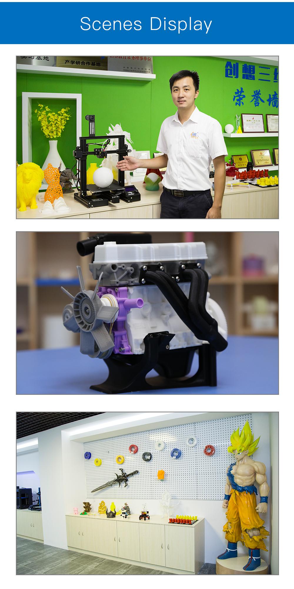 Creality3D Ender 3 Pro 3D-Drucker Bausatz - 220x220x250mm - Verschiedene 3D-gedruckte Bauteile