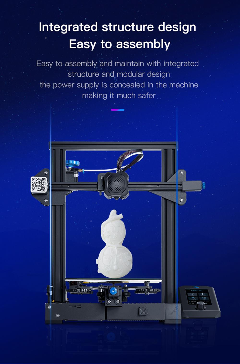 Creality3D Ender 3 V2 3D-Drucker Bausatz - 220x220x250mm - Einfacher Aufbau