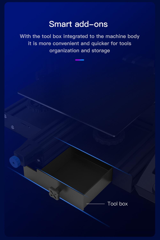 Creality3D Ender 3 V2 3D-Drucker Bausatz - 220x220x250mm - Integrierte Werkzeugbox