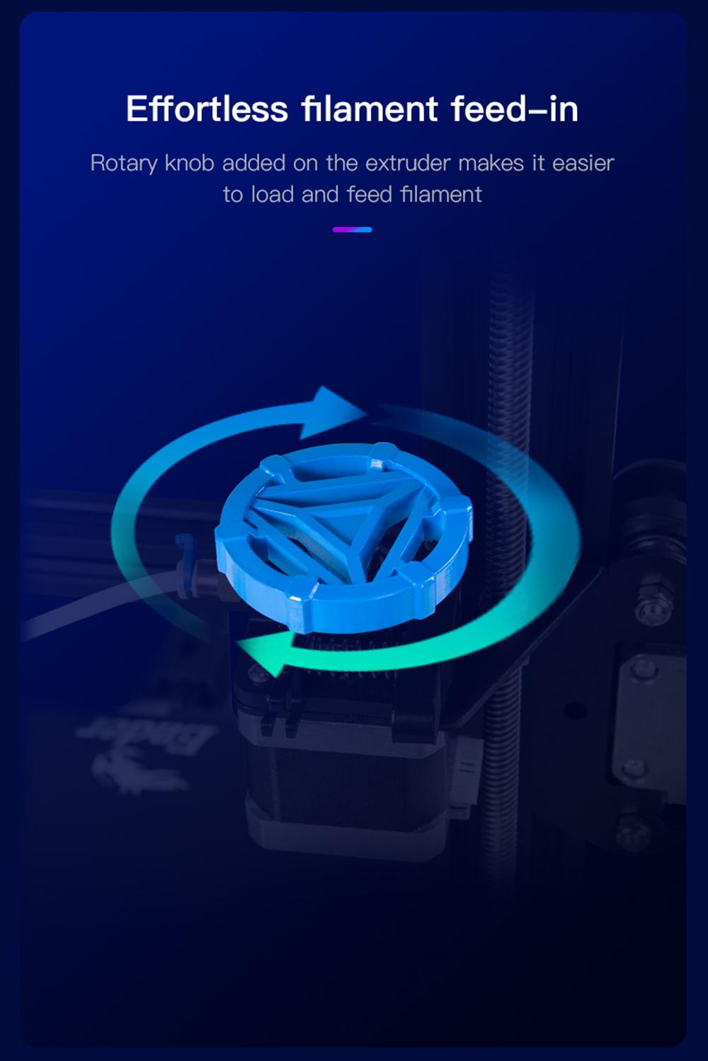 Creality3D Ender 3 V2 3D-Drucker Bausatz - 220x220x250mm - Extruder Drehknopf zur leichteren Filament Zuführung