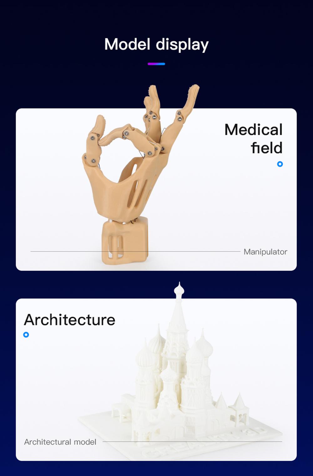 Creality3D Ender 3 V2 3D-Drucker Bausatz - 220x220x250mm - Anwendungsbeispiele in Medizin und Architektur
