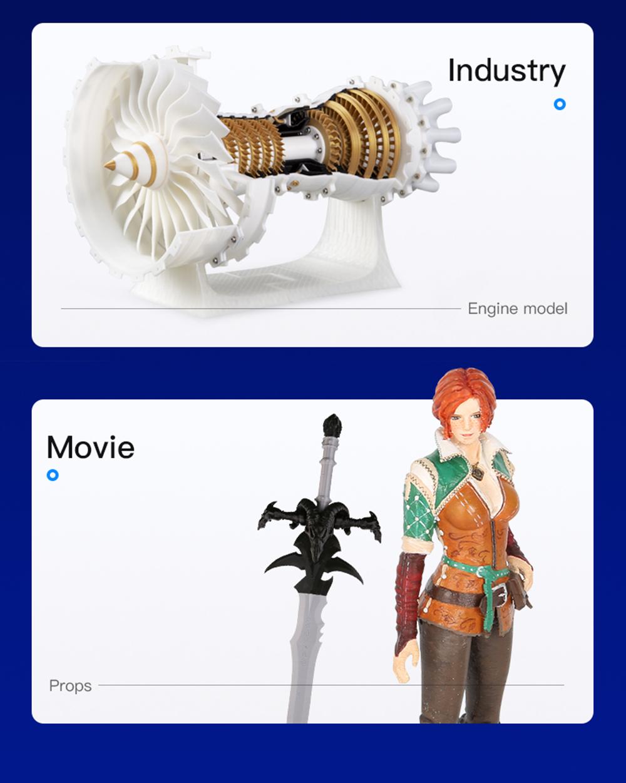Creality3D Ender 3 V2 3D-Drucker Bausatz - 220x220x250mm - Anwendungsbeispiele in Industrie und Film