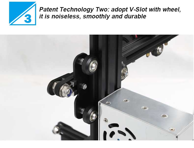 Creality3D Ender 3 3D-Drucker Bausatz - 220x220x250mm - V-Slot Profilführungen