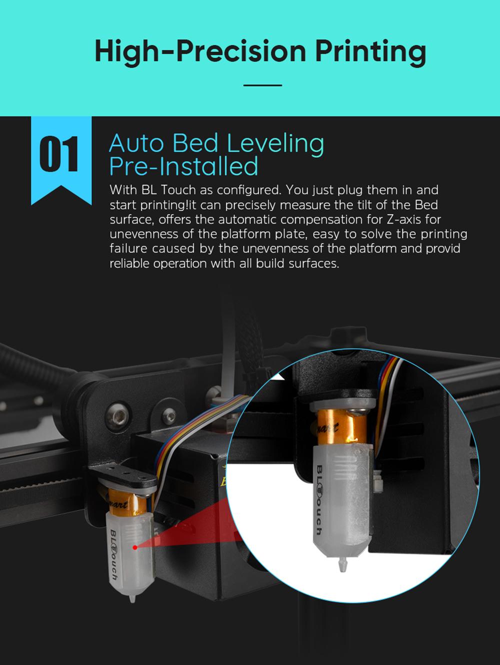 Creality3D Ender 5 Plus 3D-Drucker Bausatz - 350x350x400mm - Auto Bed-Levelling mit BL-Touch Sensor