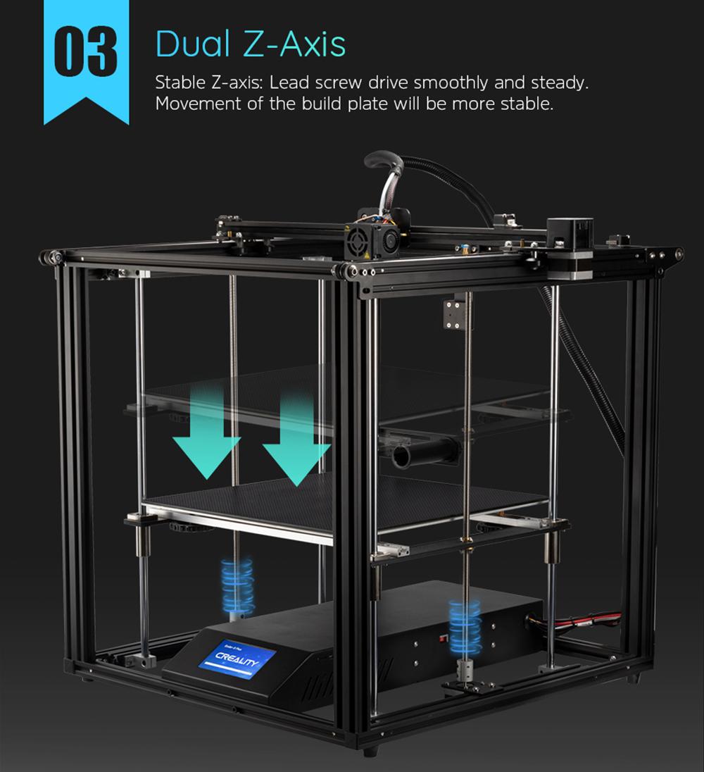 Creality3D Ender 5 Plus 3D-Drucker Bausatz - 350x350x400mm - Dualer Z-Achsen Antrieb
