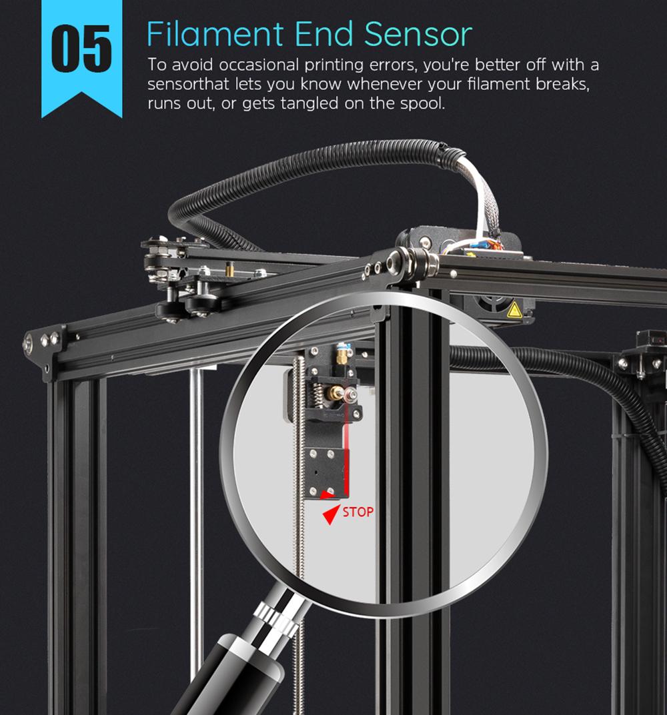 Creality3D Ender 5 Plus 3D-Drucker Bausatz - 350x350x400mm - Filament Sensor