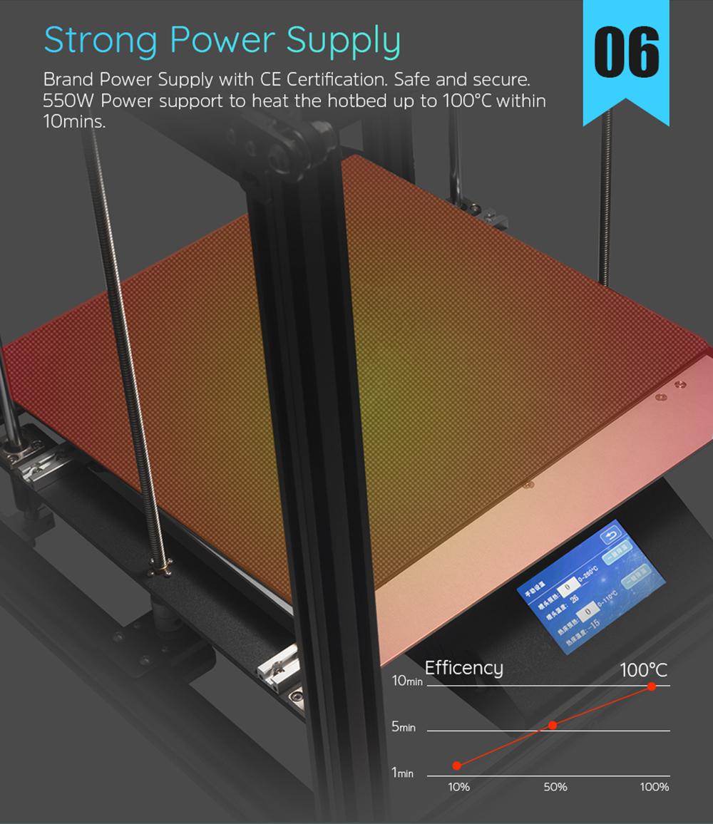 Creality3D Ender 5 Plus 3D-Drucker Bausatz - 350x350x400mm - Starkes 550W Netzteil