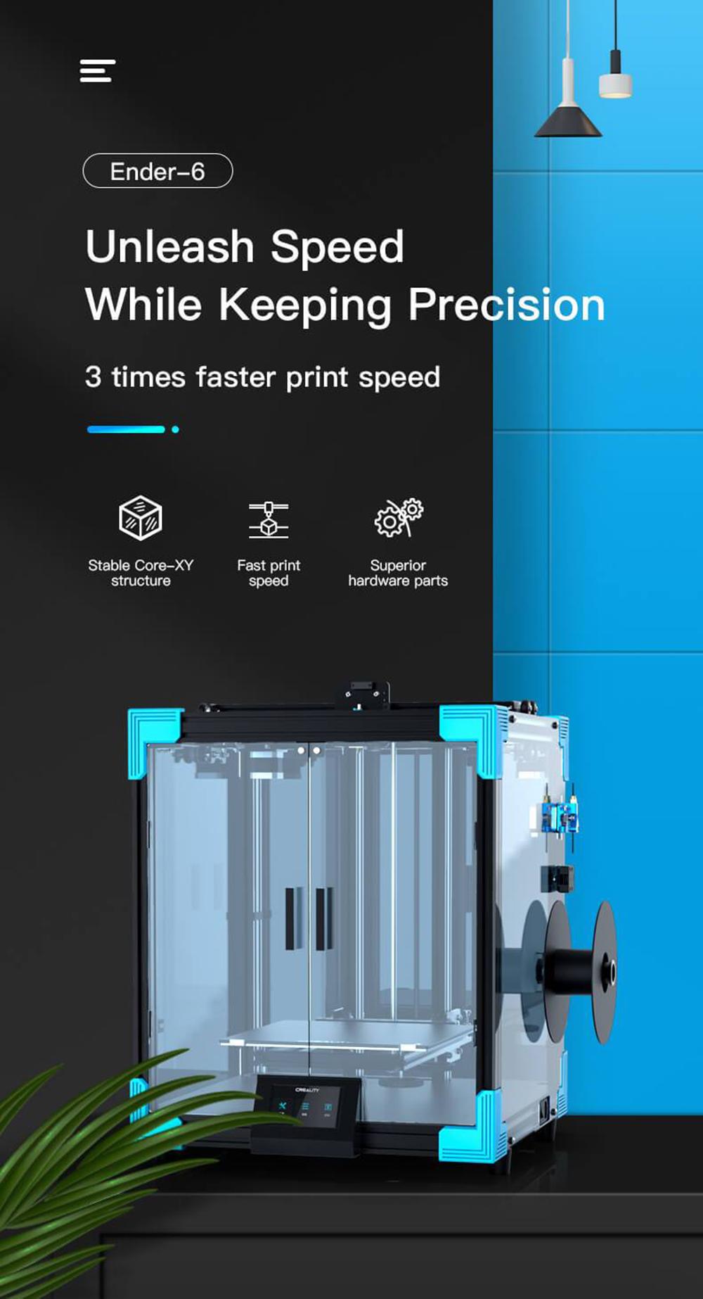 Creality3D Ender 6 3D-Drucker Bausatz - 250x250x400mm - Ender 6 Produktvorstellung - 3 mal schneller drucken