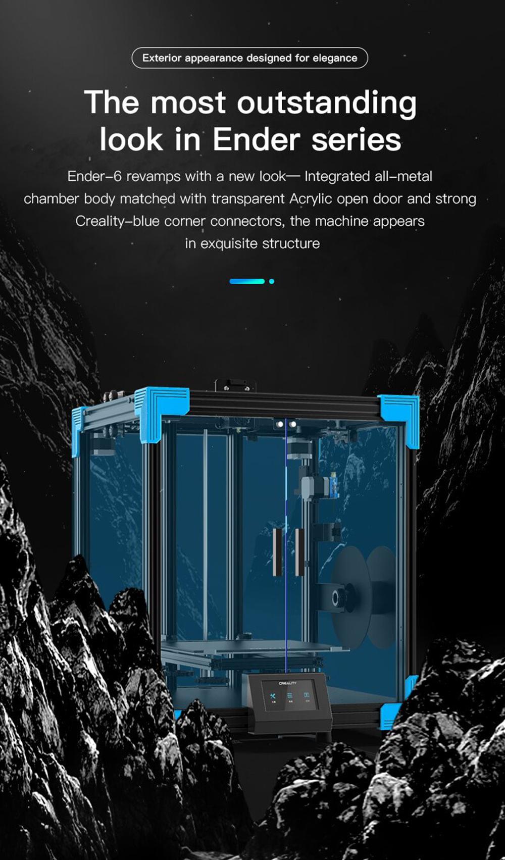 Creality3D Ender 6 3D-Drucker Bausatz - 250x250x400mm - Ender 6 in herausragender Optik