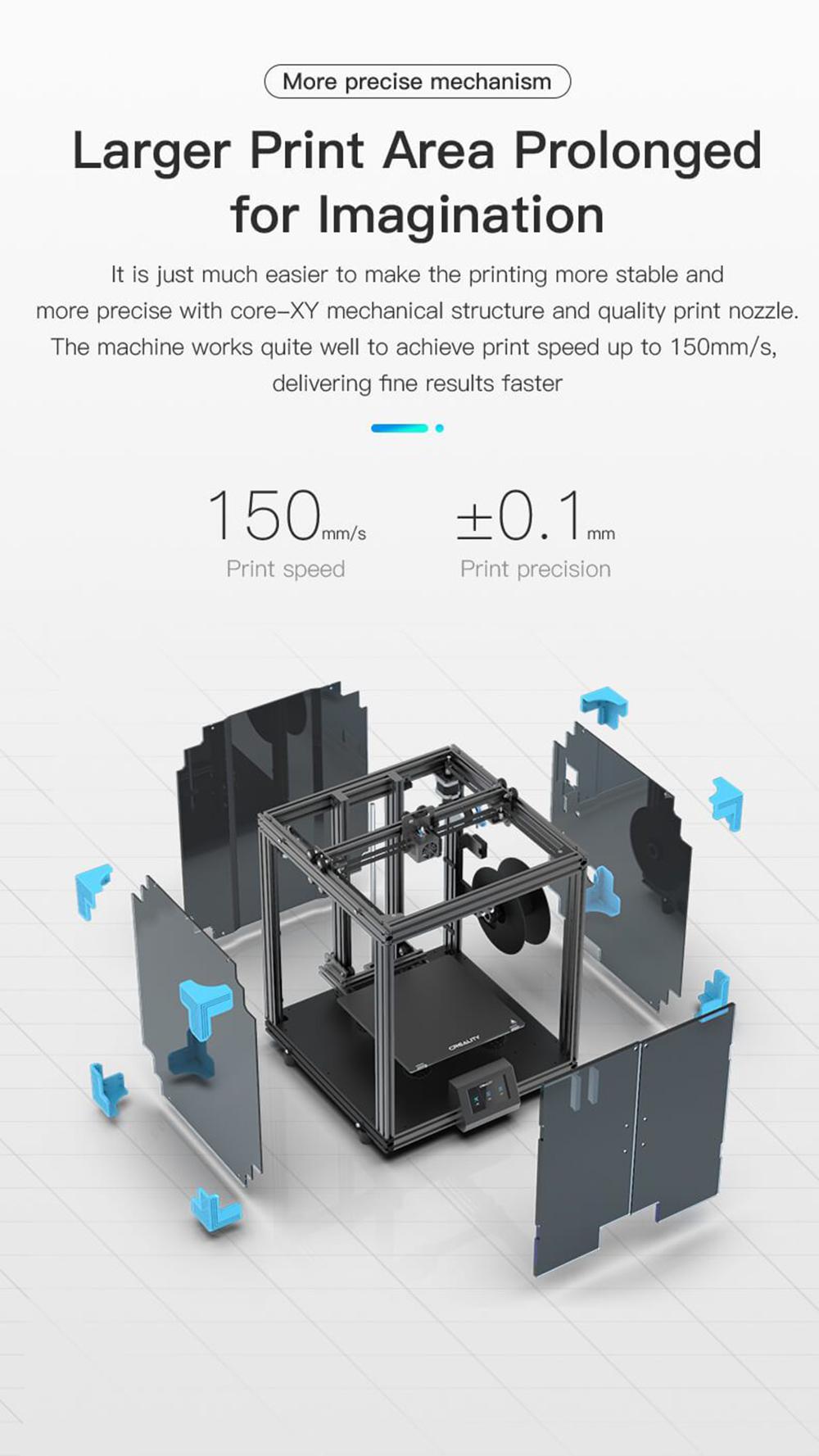 Creality3D Ender 6 3D-Drucker Bausatz - 250x250x400mm - Höhere Stabilität und noch präziser dank Core Rahmenstruktur