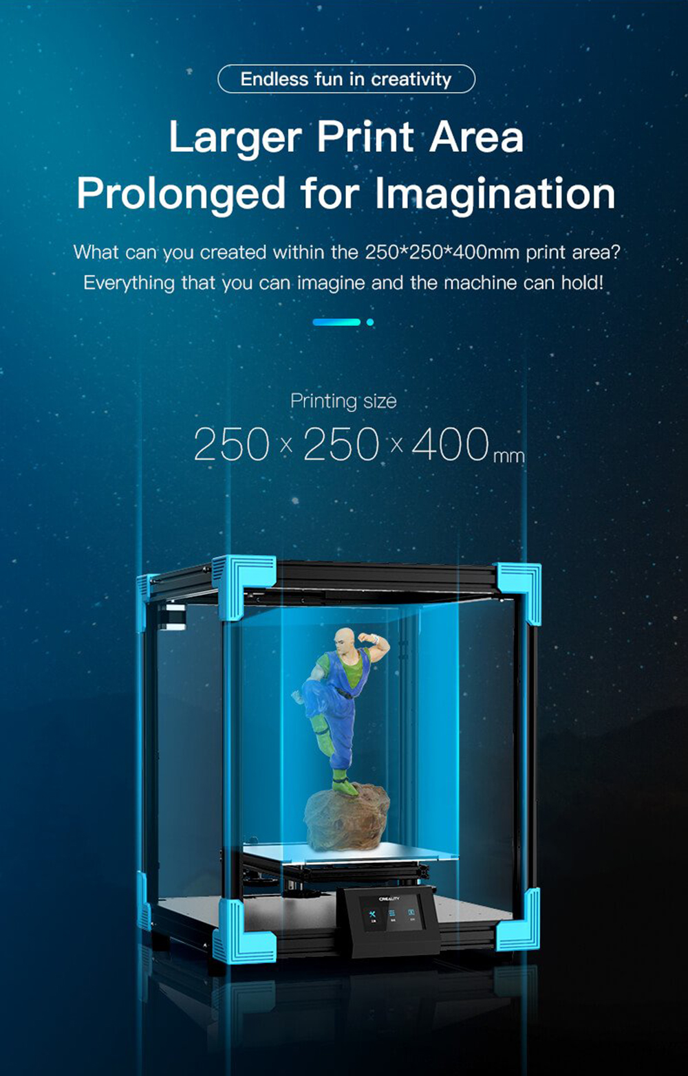 Creality3D Ender 6 3D-Drucker Bausatz - 250x250x400mm - Größerer Bauraum mit 250x250x400 mm