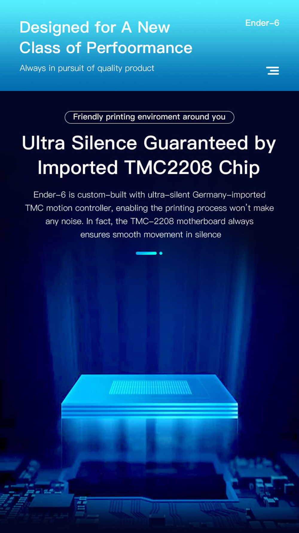 Creality3D Ender 6 3D-Drucker Bausatz - 250x250x400mm - Ultra leises TMC2208 Motherboard