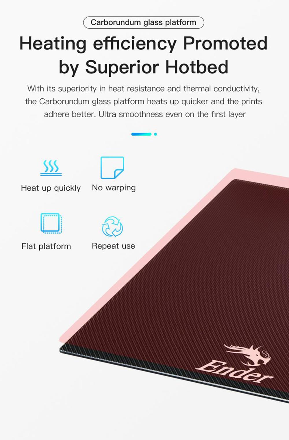 Creality3D Ender 6 3D-Drucker Bausatz - 250x250x400mm - Carborundum Glas Plattform