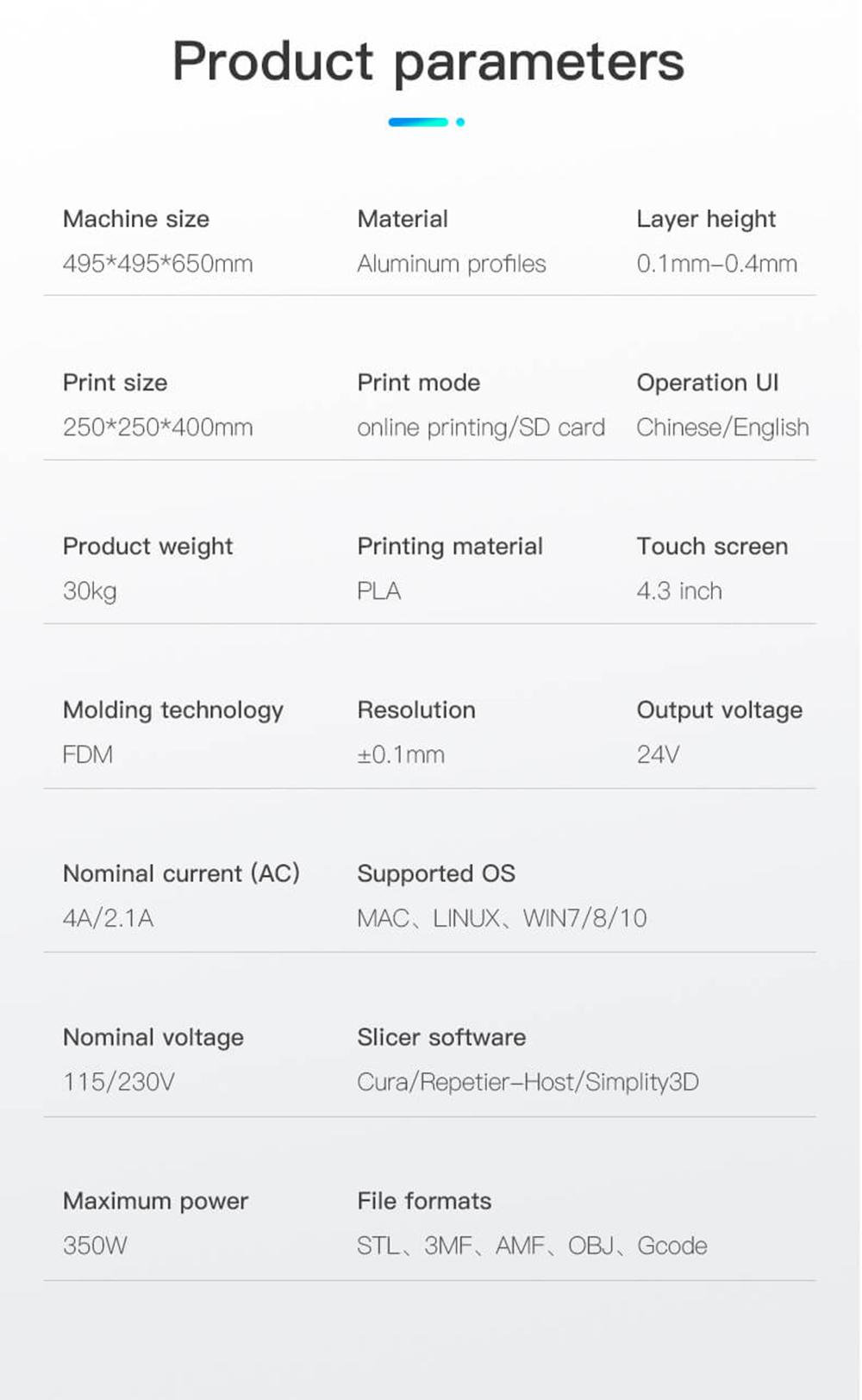 Creality3D Ender 6 3D-Drucker Bausatz - 250x250x400mm - Technische Daten