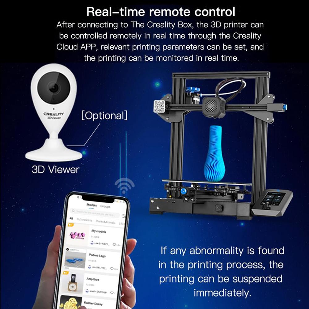 Creality3D WiFi Box CWB - Echtzeit Fernsteuerung